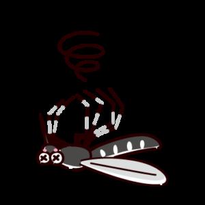 ダメージを受けた蚊のイラスト