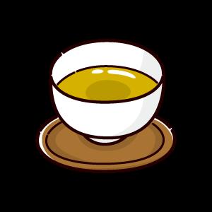お茶のイラスト(緑茶)(4カット)