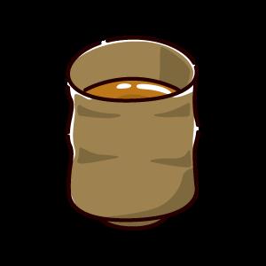 お茶のイラスト(ほうじ茶)