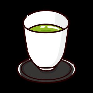 お茶のイラスト(抹茶)