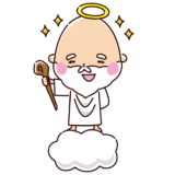 喜ぶ神様のイラスト