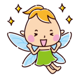 喜ぶ妖精のイラスト