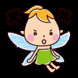 怒る妖精のイラスト