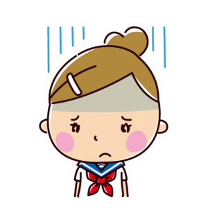 落ち込むイラスト(女子学生)