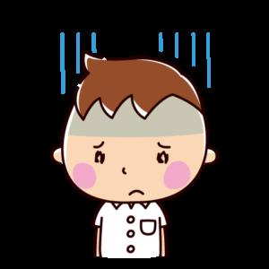 落ち込むイラスト(男子学生)
