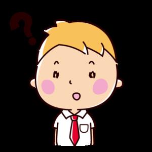 疑問の表情のイラスト(男子学生)