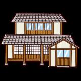 和風の家のイラスト