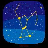 星座のイラスト(オリオン座)