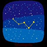 星座のイラスト(カシオペヤ座)