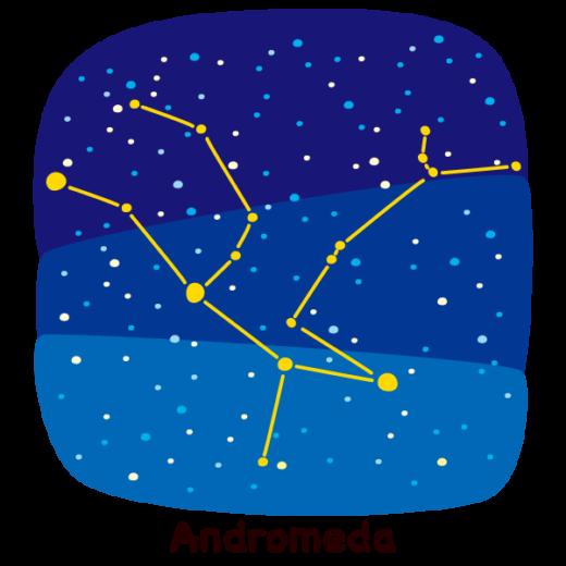 星座のイラスト(アンドロメダ座)(2カット)